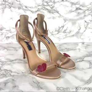 INC International Concepts Gold Ankle Strap Heel